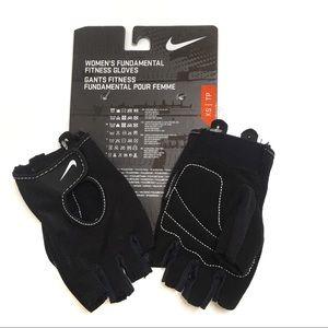 Nike women's fundamental fitness gloves black XS